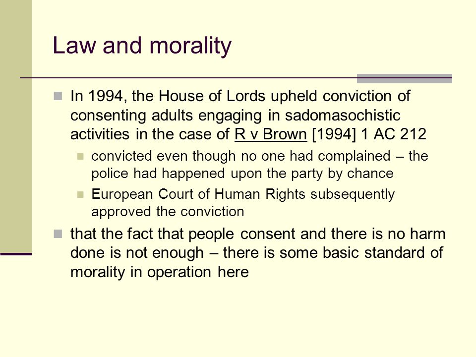 law and morals 'this is not a court of morals but a court of law,' declared the court of appeal  judges in their ruling on the conjoined twins, mary and jodie.