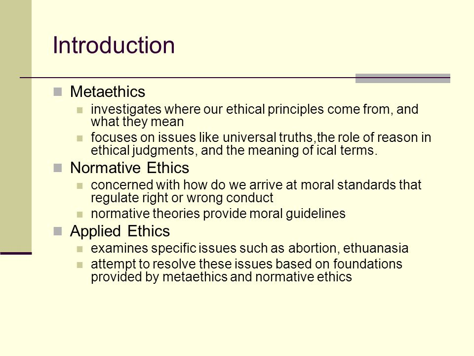 what is meant by meta ethics essay The question posed, ostensibly, in the realm of normative and applied ethics, is (the author of the paper proposes) nested in meta-ethics and, specifically, ontology the author's response to the research question is a hypothesis, stated.