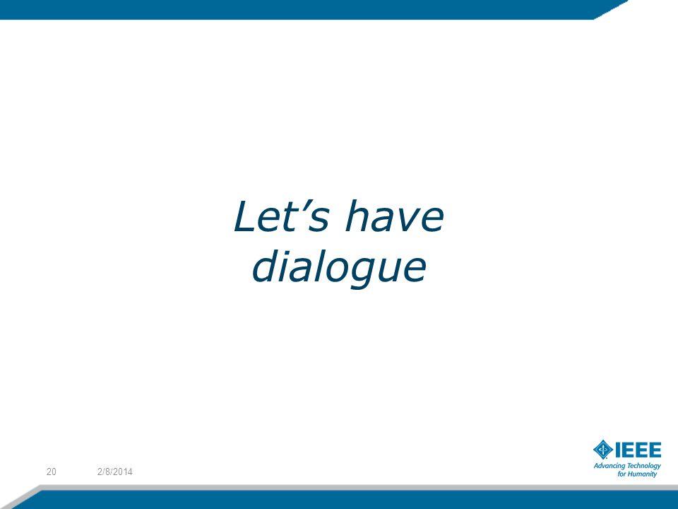 Let's have dialogue 3/27/2017
