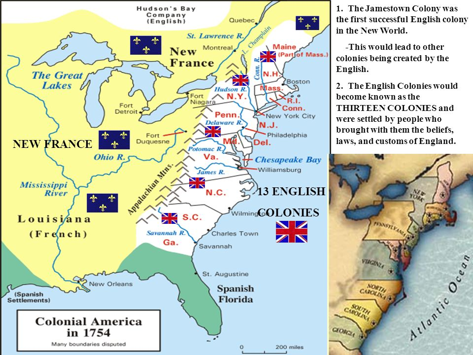 spanish settlements vs english colonies
