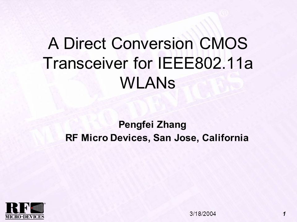 A Direct Conversion CMOS Transceiver for IEEE802.11a WLANs