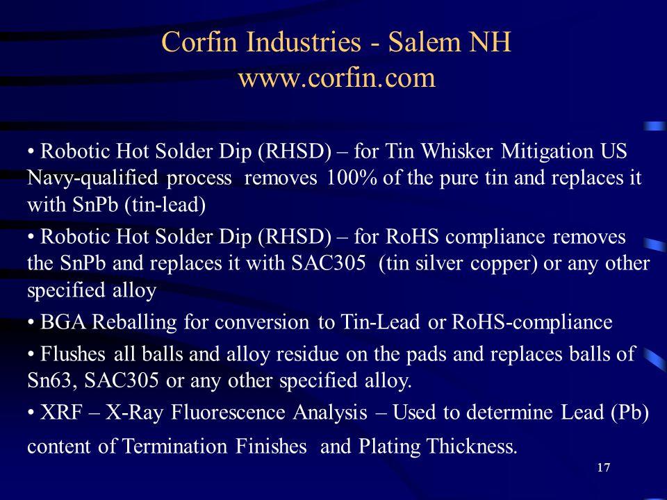 Corfin Industries - Salem NH www.corfin.com