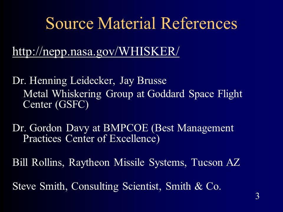 Source Material References