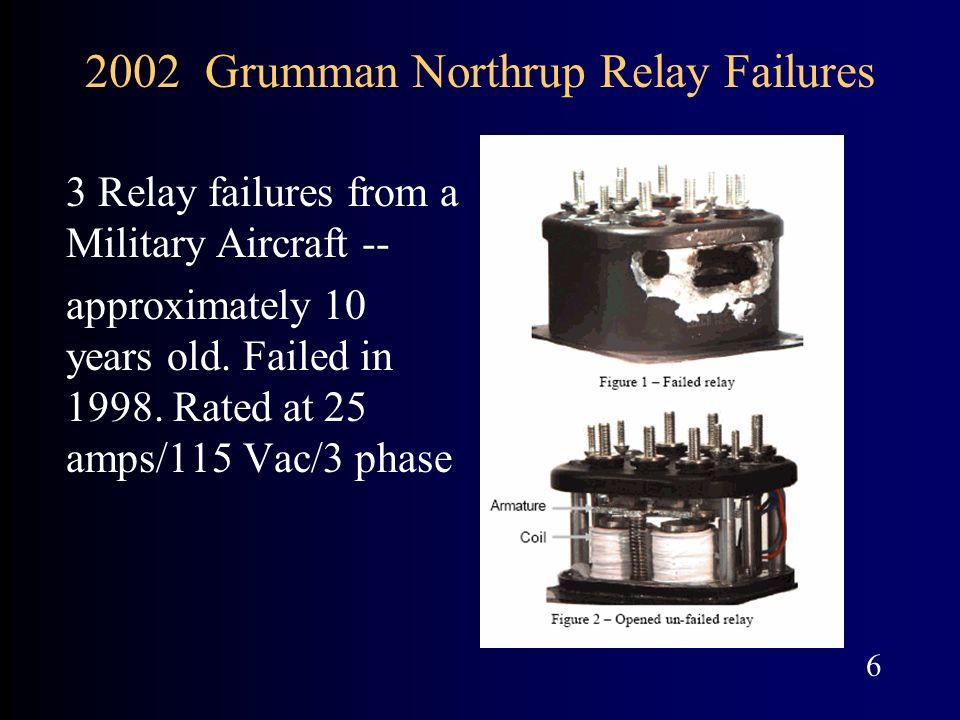2002 Grumman Northrup Relay Failures
