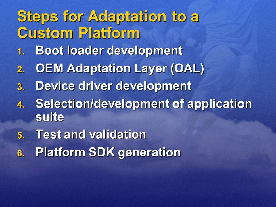 Steps for Adaptation to a Custom Platform