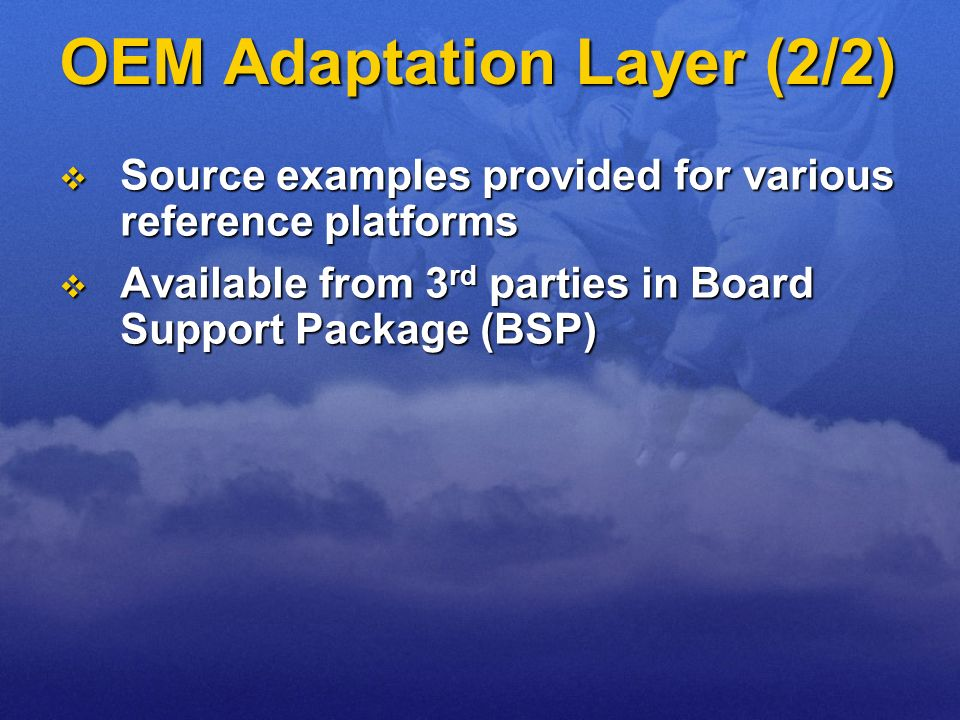 OEM Adaptation Layer (2/2)