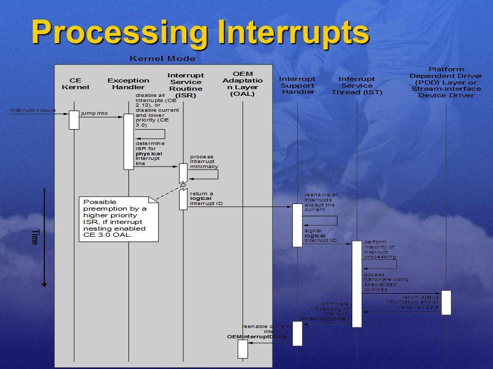 Processing Interrupts