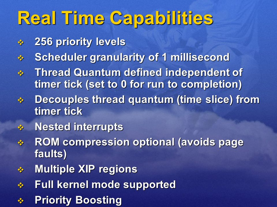 Real Time Capabilities