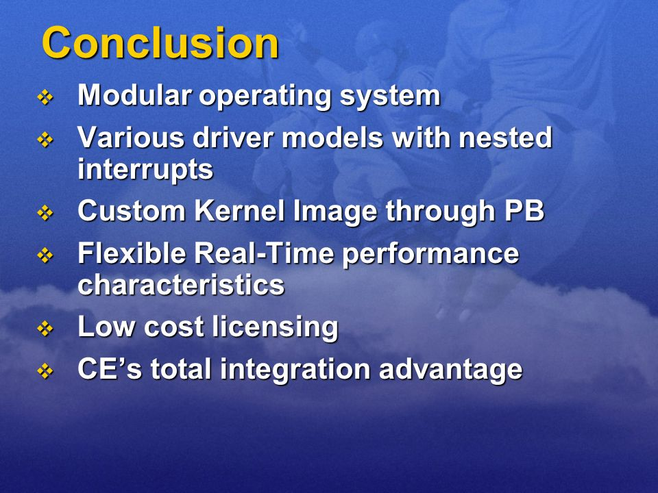 Conclusion Modular operating system