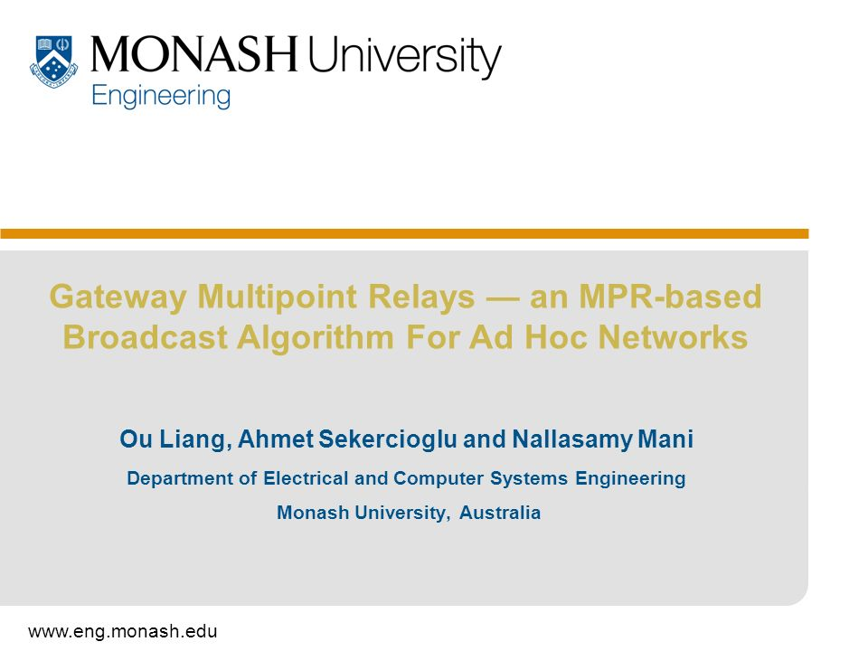 Gateway Multipoint Relays — an MPR-based Broadcast Algorithm For Ad Hoc Networks