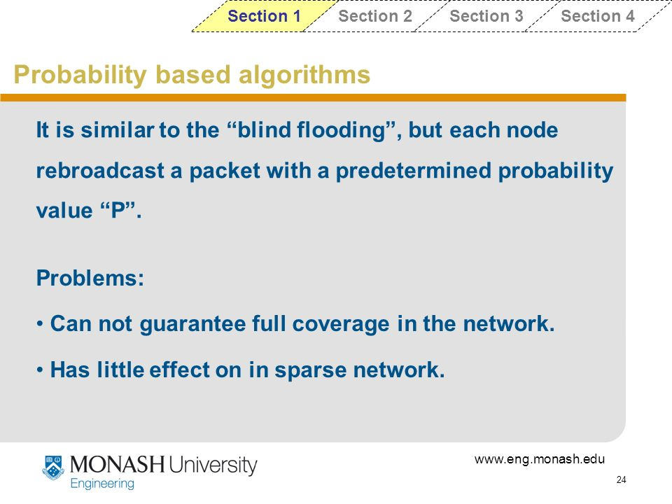 Probability based algorithms