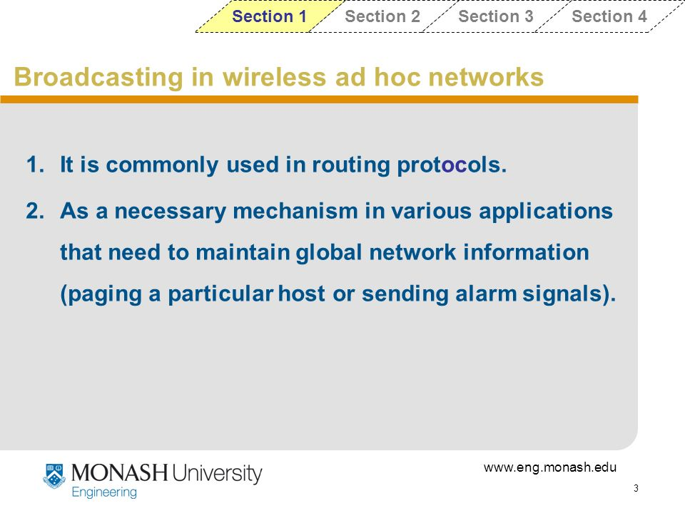 Broadcasting in wireless ad hoc networks