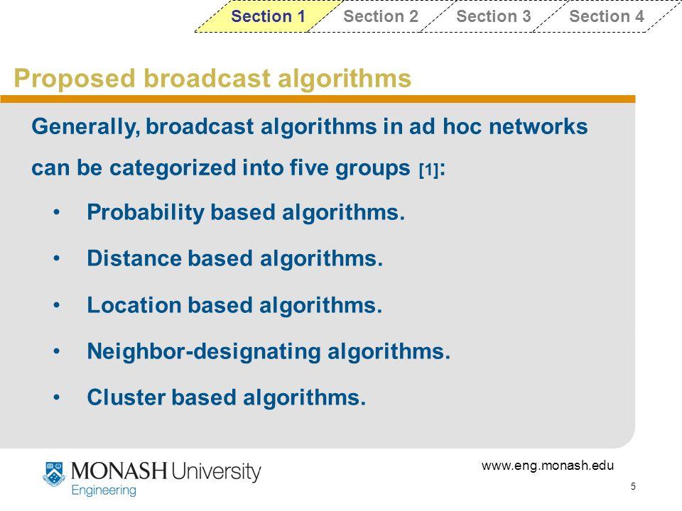 Proposed broadcast algorithms