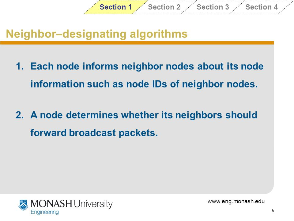 Neighbor–designating algorithms