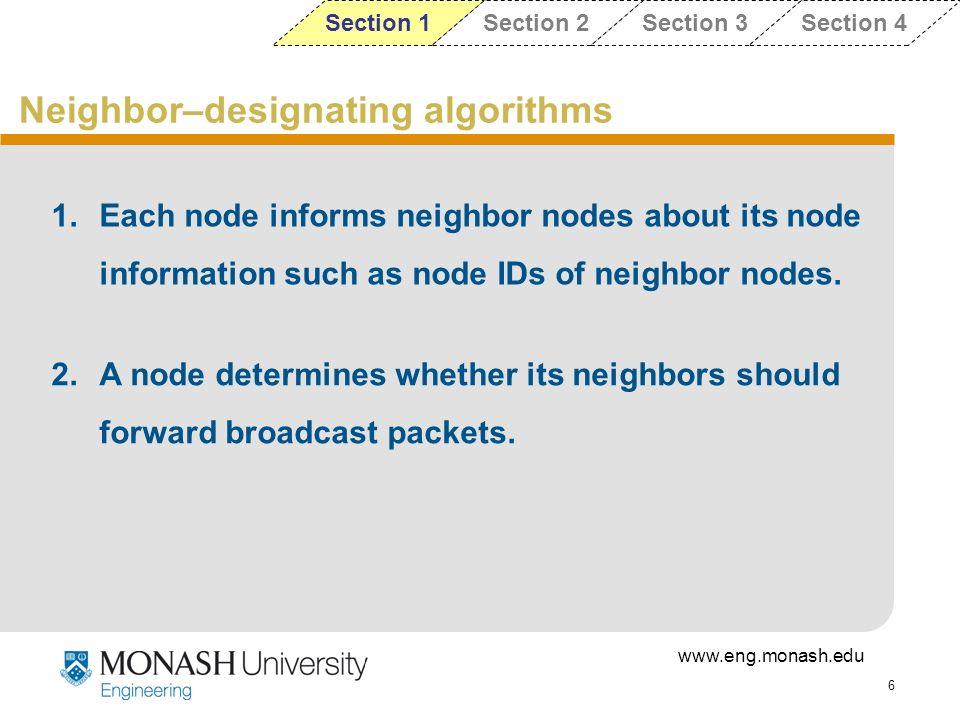 Neighbor–designating algorithms