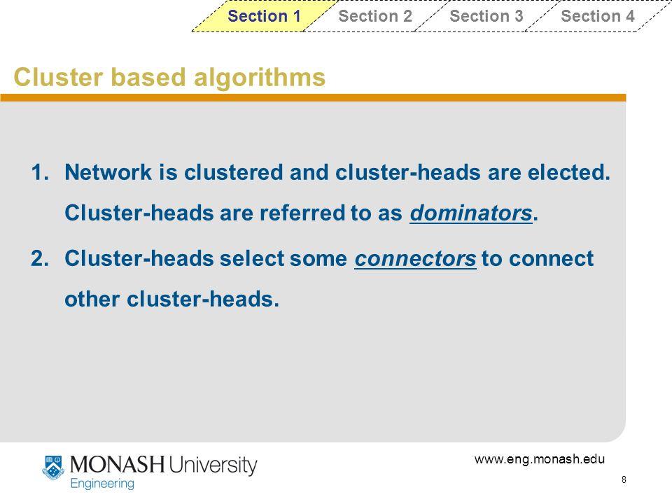 Cluster based algorithms