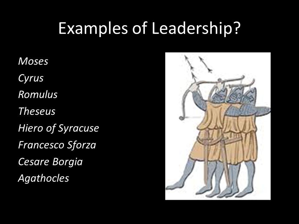 examples of leadership