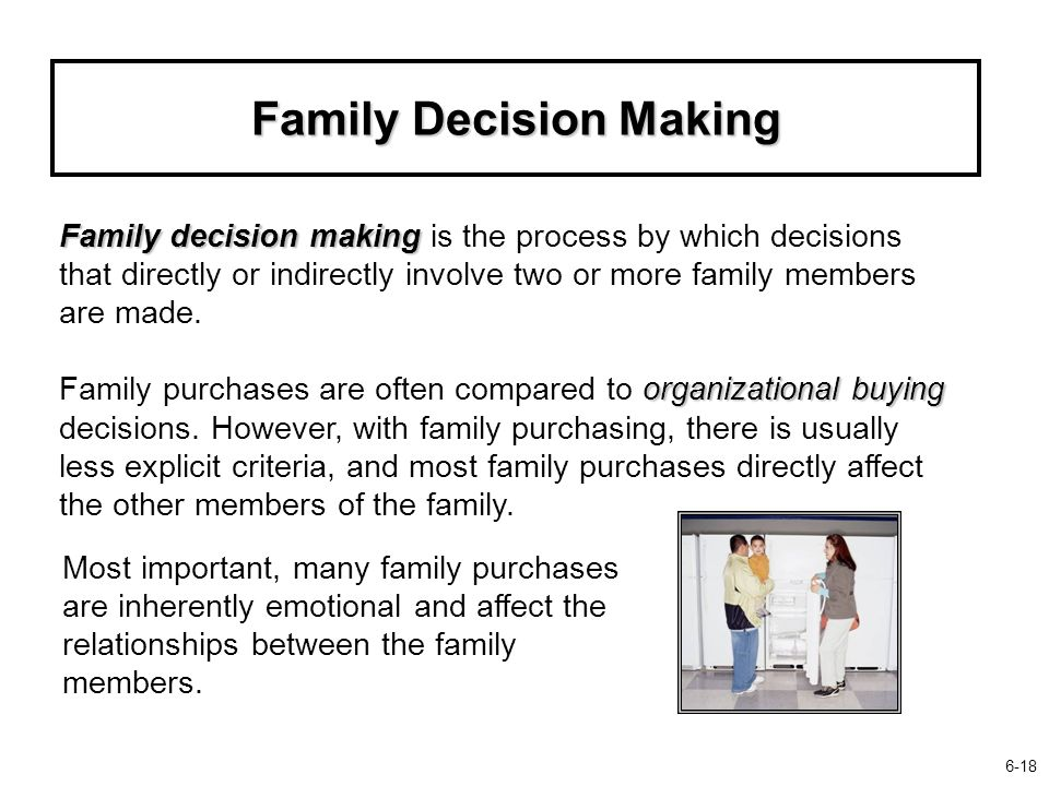 """the basics of family decision making Family of an incompetent patient should be invested with decision-making  authority  that """"[w]hen the family can presume the patient's will, the basic  procedure."""