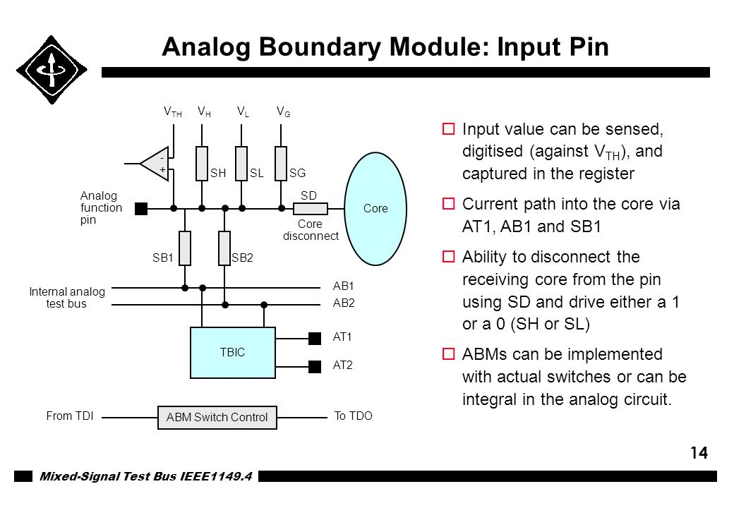 Analog Boundary Module: Input Pin