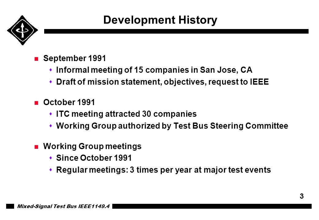 Development History September 1991