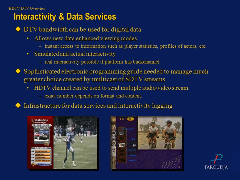 Interactivity & Data Services