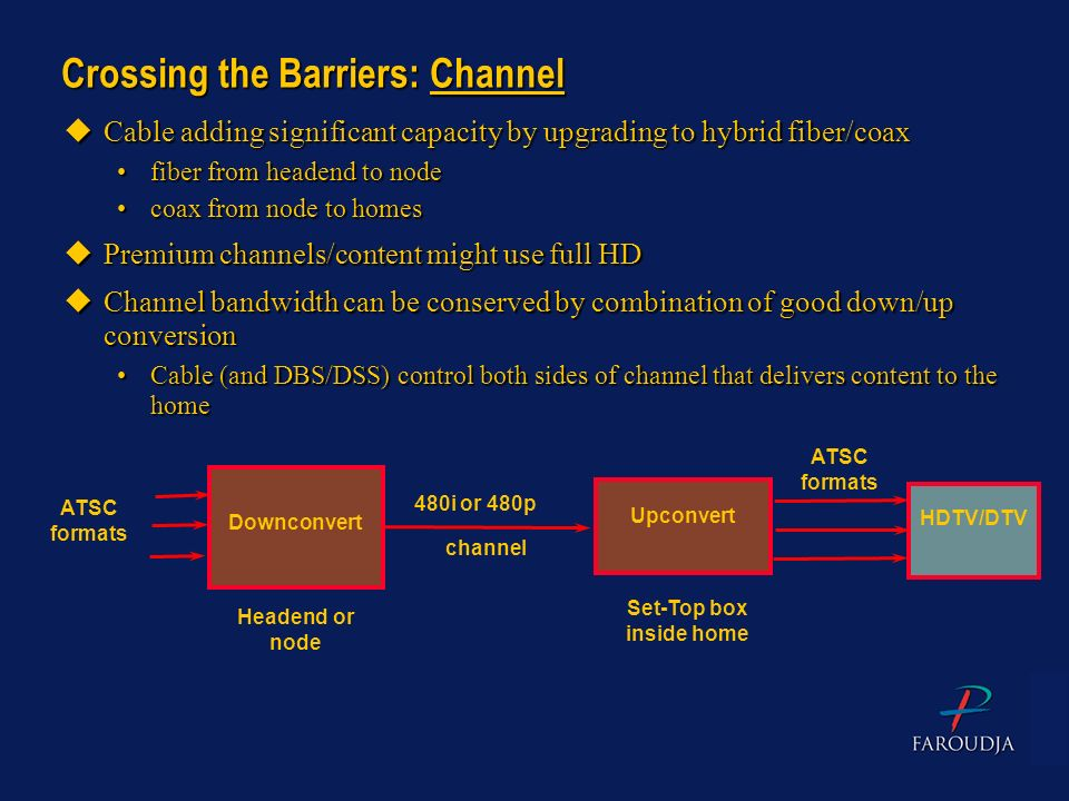Crossing the Barriers: Channel