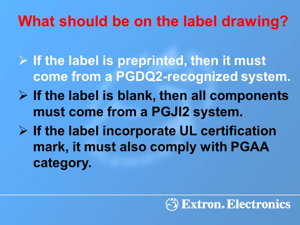 What should be on the label drawing