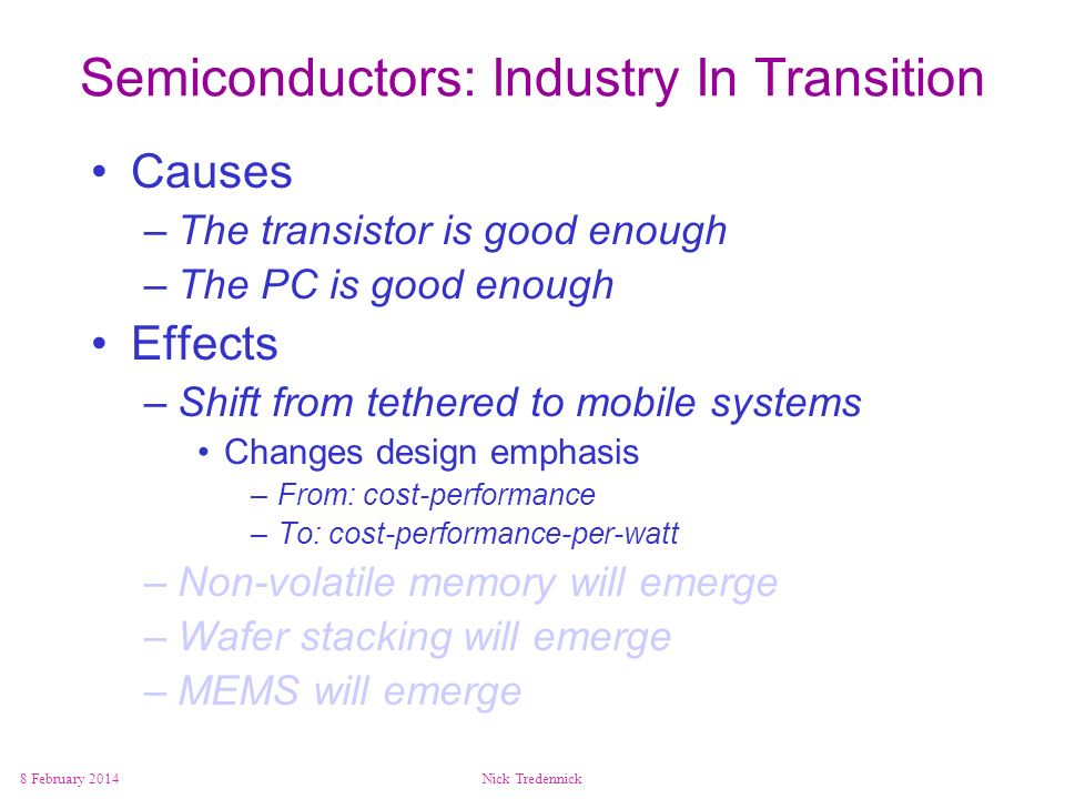 Semiconductors: Industry In Transition