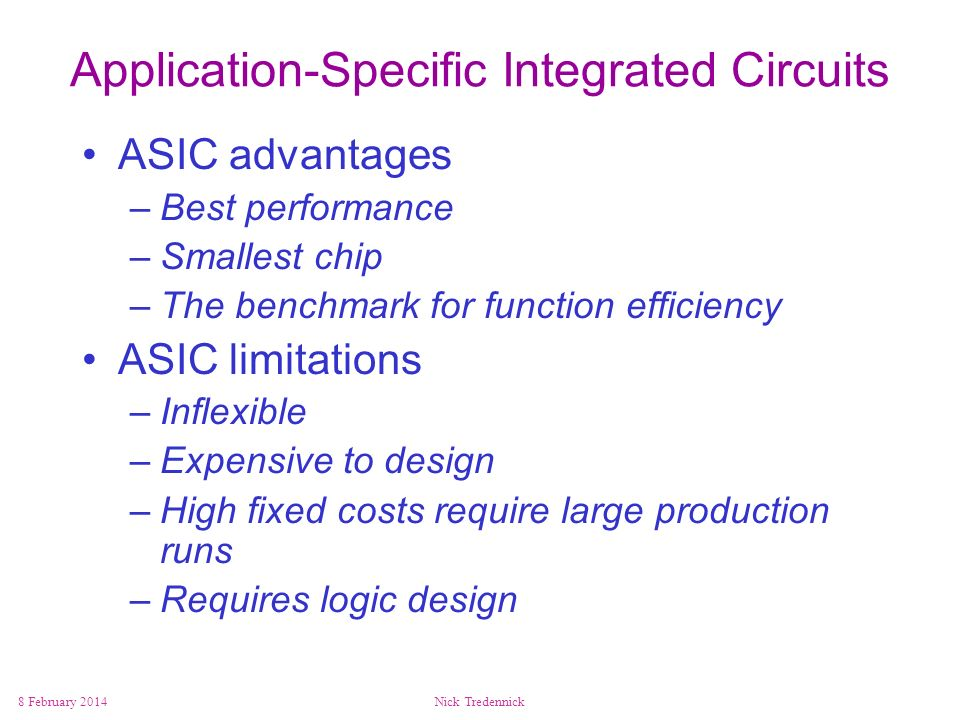 Application-Specific Integrated Circuits