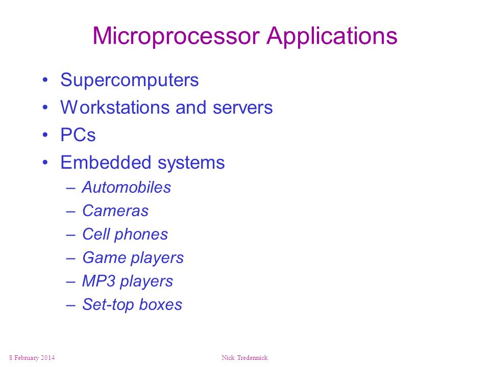 Microprocessor Applications