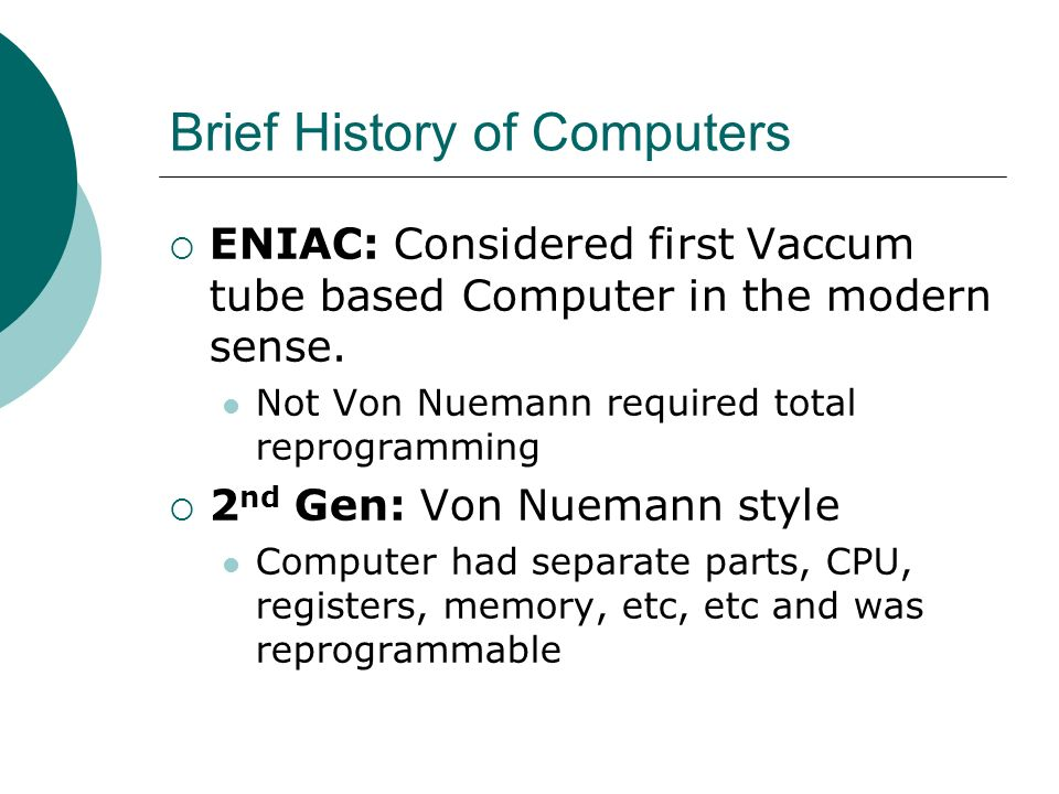 Brief History of Computers
