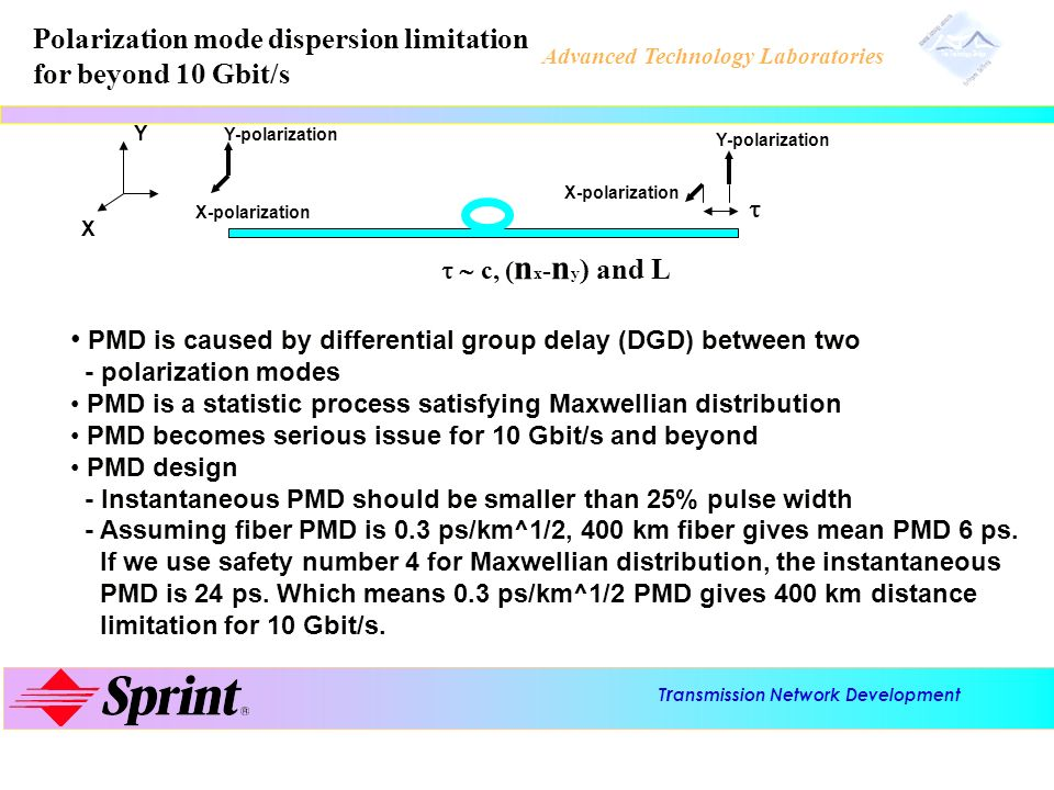 Polarization mode dispersion limitation for beyond 10 Gbit/s
