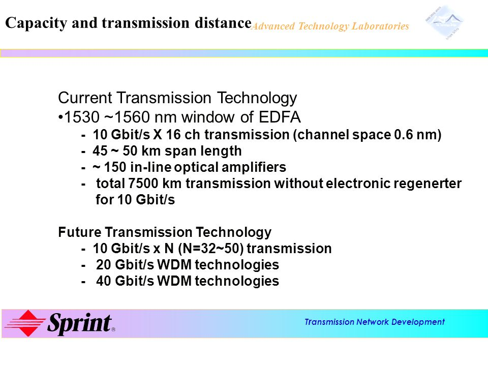 Capacity and transmission distance