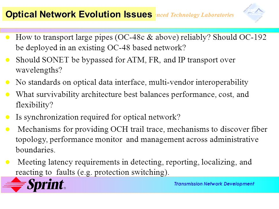 Optical Network Evolution Issues