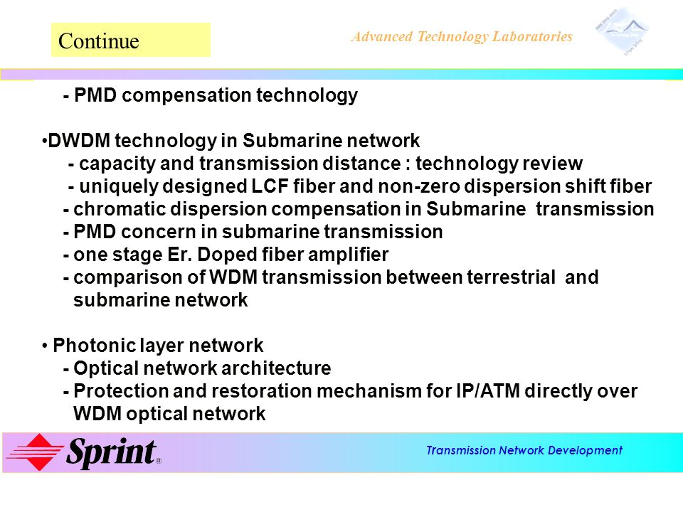 Continue DWDM technology in Submarine network