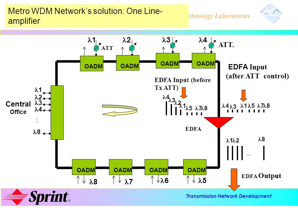 Metro WDM Network's solution: One Line-amplifier