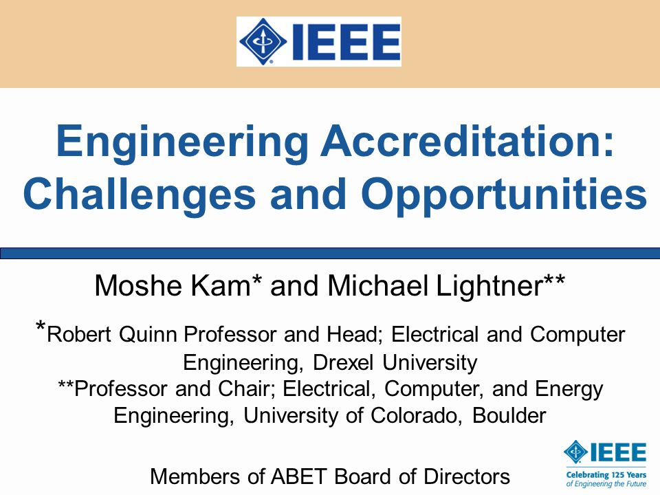Engineering Accreditation: Challenges and Opportunities