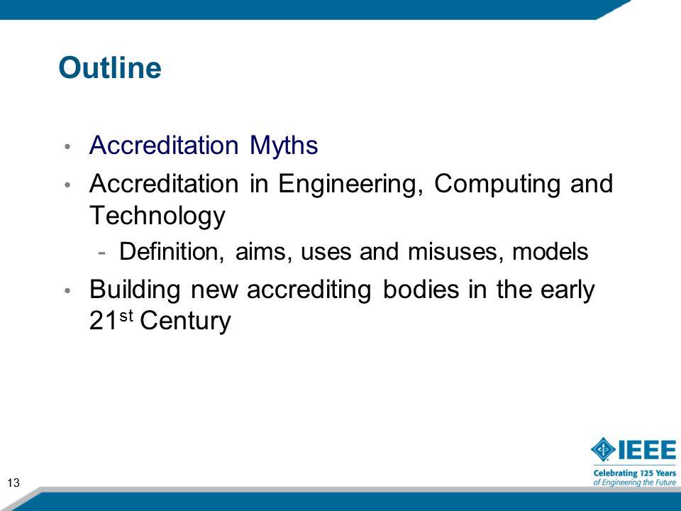 Outline Accreditation Myths