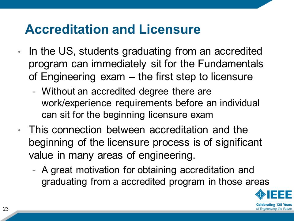 Accreditation and Licensure