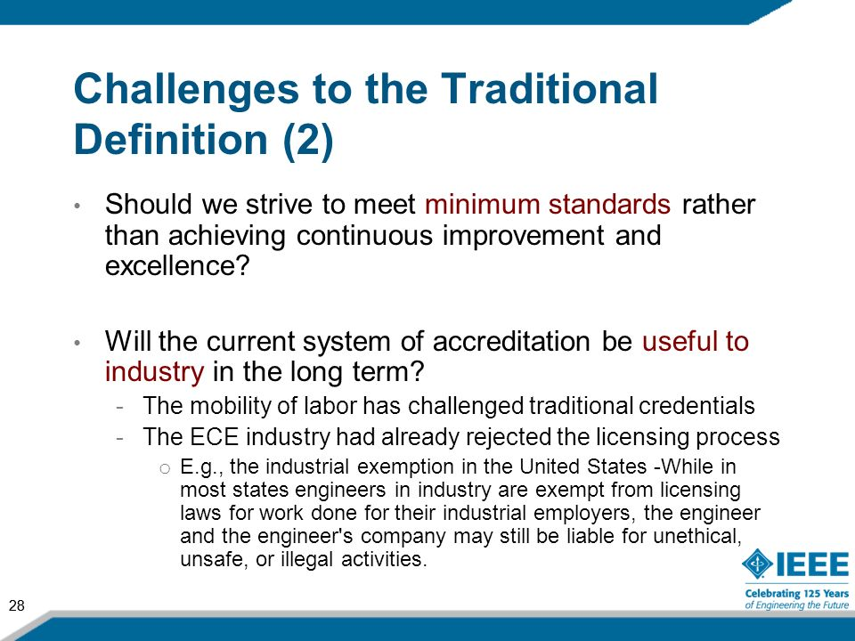 Challenges to the Traditional Definition (2)