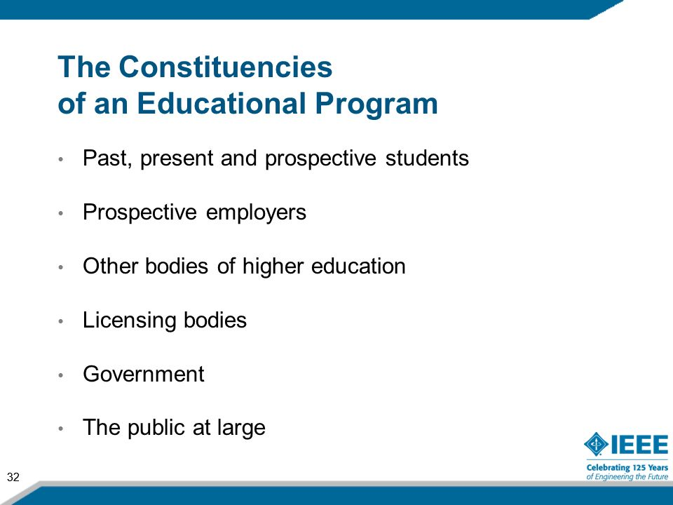 The Constituencies of an Educational Program