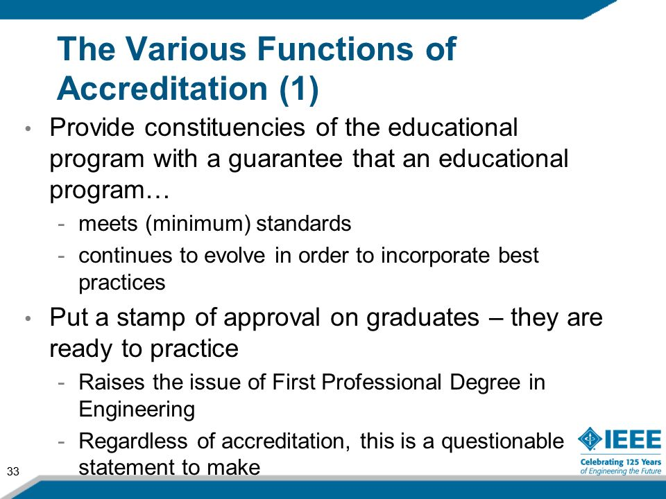 The Various Functions of Accreditation (1)