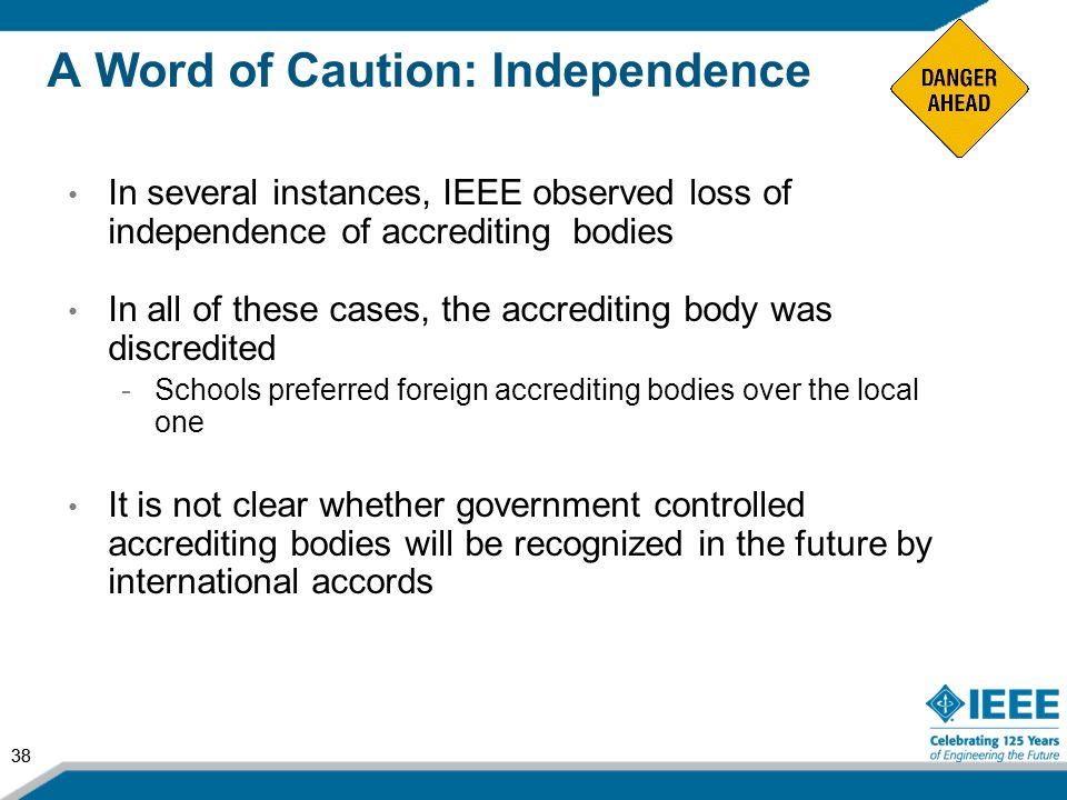 A Word of Caution: Independence