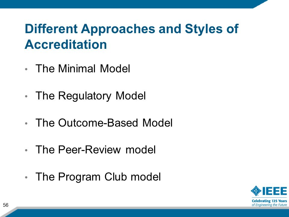Different Approaches and Styles of Accreditation