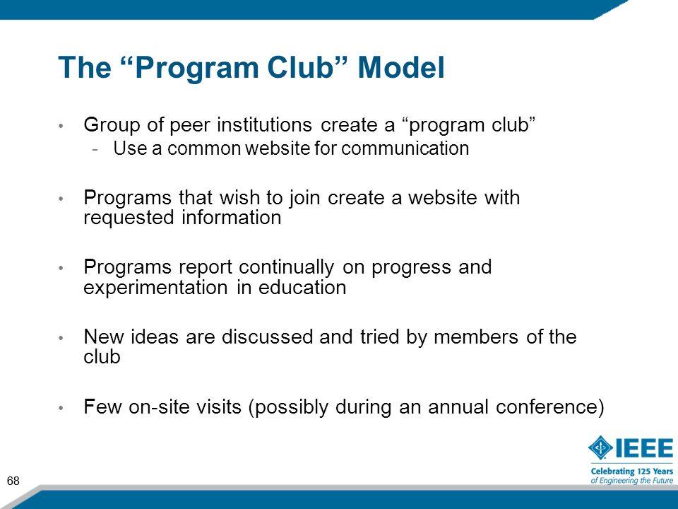 The Program Club Model