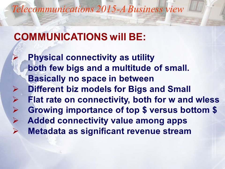 Telecommunications 2015-A Business view