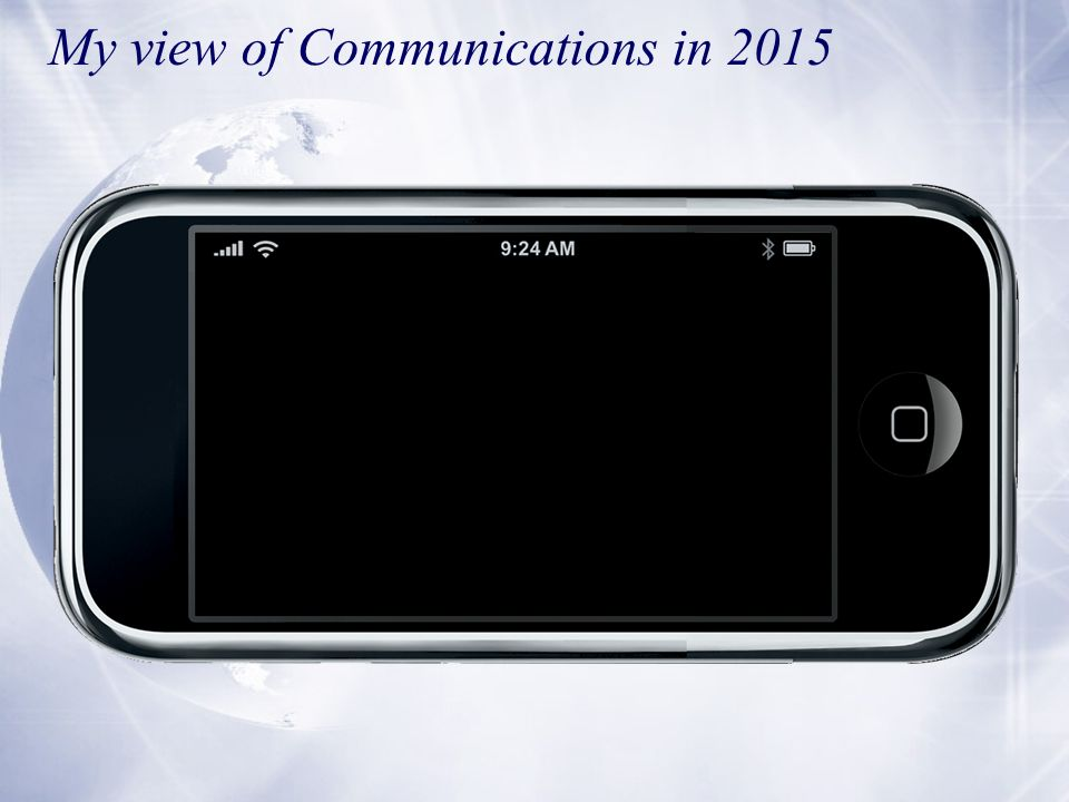 My view of Communications in 2015
