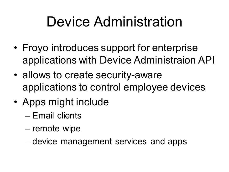 Device Administration