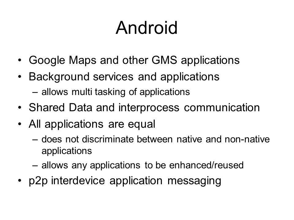Android Google Maps and other GMS applications