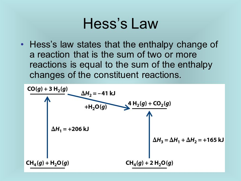 how to find enthalpy change of two reactions